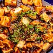 Mapo-Tofu-with-Spring-Onion-and-Black-Beans