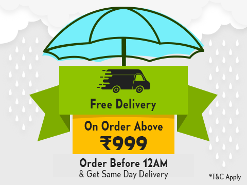 Free shipping on Order above Rs 999