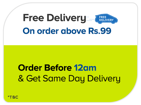 Free shipping on Order above Rs 99