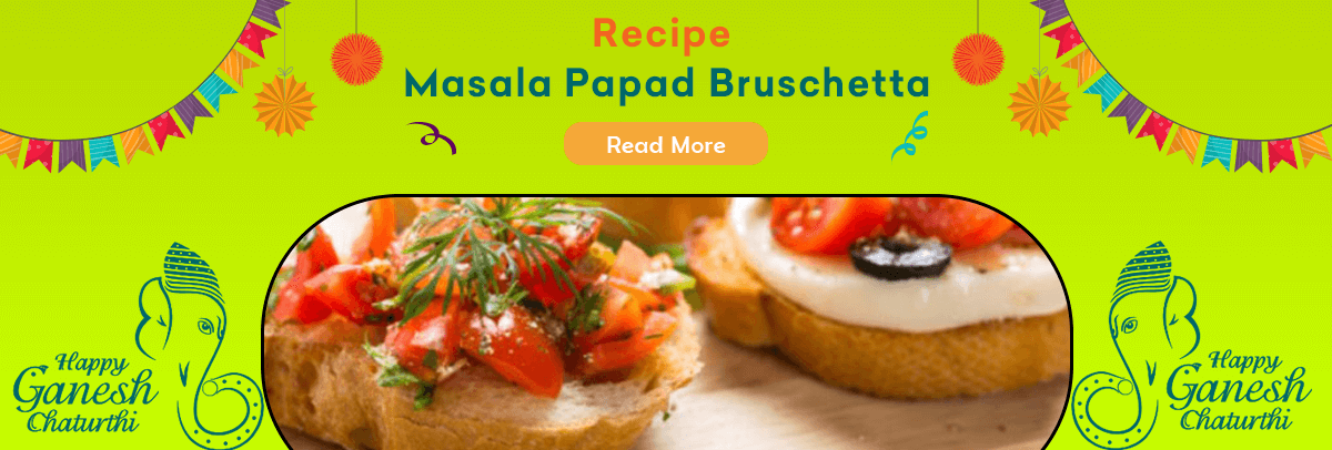 Masala Papad Bruschetta Recipe
